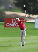 Peter Lawrie (IRL) during the second round of the 2013 Omega Dubai Desert Classic being played over the Majlis Golf Course, Emirates Golf Course from 31st January to 3rd February 2013: Picture Stuart Adams www.golftourimages.com/www.golffile.ie:  1st February 2013