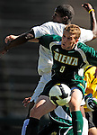 1 September 2009: Siena College Saints' backfielder Joe Tempone, a Junior from New Hyde Park, NY, in action against the University of Vermont Catamounts at Centennial Field in Burlington, Vermont. The Saints edged out the Catamounts 1-0. Mandatory Photo Credit: Ed Wolfstein Photo