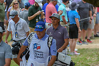 Rickie Fowler (USA) makes his way to the tee on 2 during day 2 of the Valero Texas Open, at the TPC San Antonio Oaks Course, San Antonio, Texas, USA. 4/5/2019.<br /> Picture: Golffile | Ken Murray<br /> <br /> <br /> All photo usage must carry mandatory copyright credit (© Golffile | Ken Murray)