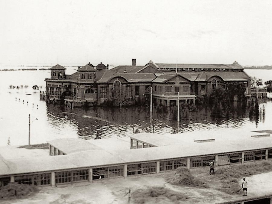 1939: Tientsin Country Club From The Racecourse Grandstand During The Floods Of August &amp; September.  Photographed By Mr A. Leo Bridge, Kindly Provided By Mr Ron Bridge.<br />