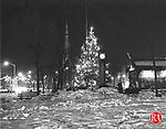 The Christmas tree on Waterbury Green December 1960