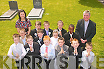9315-9318.---------.Pupils from CBS Clounalour Tralee,who received their 1st Holy Communion in St John's Church Tralee last Saturday with Fr Sean Hanafin and teacher No?iri?n Dwyre were Patrick Keane,Nathan Holden,Archie Donovan,Ryan Hurley,Sean McCarthy,Ciane Harris,Steven Vasileion,Aishling Walsh,Joe Bastible,Eoghan Carroll,Josh Fitzgerald,Conor Myres and Jack Scanlon.