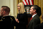 Senior Adviser to President Trump, Ivanka Trump, attends a meeting with United States President Donald J. Trump and Israel's Prime Minister Benjamin Netanyahu in the East Room of the White House in Washington, D.C.,on Tuesday, January 28, 2020. Credit: Joshua Lott / CNP