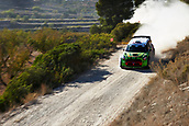 6th October 2017, Costa Daurada, Salou, Spain; FIA World Rally Championship, RallyRACC Catalunya, Spanish Rally; Valeriy Gorban of Ukraine and his co-driver Sergei Larens of Estonia compete in their Eurolap World Rally Team BMW Mini John Cooper Works during the Terra Alta stage