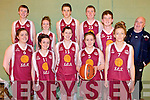 CHARITY: Students from Tarbert Comprehensive Secondary School who took part in the charity basketball tournament at Listowel Sports Centre last Friday, l-r: Maura O'Sullivan, Dearbhla O'Connor, Emily Wren, Saoirse O'Connor, Stephanie Collins. Back l-r: Jerome McMahon, Ciara Lynch, Shane Garvey, Gearóid Moriarty, Kevin Gleeson, Ted O'Connor )(Sponsor).