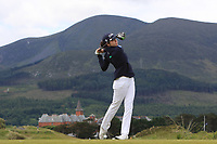 Shannon Burke (Ballinrobe) on the 2nd tee during Round 1 of the Women's Amateur Championship at Royal County Down Golf Club in Newcastle Co. Down on Tuesday 11th June 2019.<br /> Picture:  Thos Caffrey / www.golffile.ie<br /> <br /> All photos usage must carry mandatory copyright credit (© Golffile | Thos Caffrey)