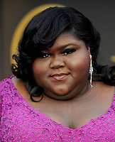 HOLLYWOOD, CA - MARCH 2: Gabourey Sidibe arriving to the 2014 Oscars at the Hollywood and Highland Center in Hollywood, California. March 2, 2014. Credit: SP1/Starlitepics. /NORTePHOTO