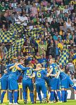 10.08.2019, wohninvest Weserstadion, Bremen, GER, DFB-Pokal, 1. Runde, SV Atlas Delmenhorst vs SV Werder Bremen<br /> <br /> DFB REGULATIONS PROHIBIT ANY USE OF PHOTOGRAPHS AS IMAGE SEQUENCES AND/OR QUASI-VIDEO.<br /> <br /> im Bild / picture shows<br /> <br /> Mannschaftskreis Atlas Delmenhorst<br /> Musa Karli (SV Atlas Delmenhorst #10)<br /> Nick Köster / Koester (SV Atlas Delmenhorst #06)<br /> Florian Stütz (SV Atlas Delmenhorst #13)<br /> Thomas Mutlu (SV Atlas Delmenhorst #04)<br /> Florian Urbainski (SV Atlas Delmenhorst #01)<br /> <br /> Foto © nordphoto / Kokenge