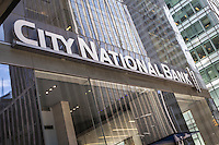 A City National Bank branch is pictured in the New York City borough of Manhattan, NY, Monday May 12, 2014. City National Bank (CNB) is an American financial institution owned by City National Corporation.