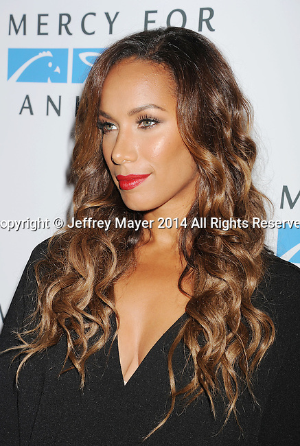 WEST HOLLYWOOD, CA- SEPTEMBER 12: Singer/songwriter Leona Lewis attends Mercy For Animals 15th Anniversary Gala at The London on September 12, 2014 in West Hollywood, California.