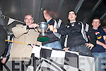 The victorious Ardfert Intermediate Team as they arrive home in Ardfert on Sunday night.