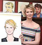Cynthia Nixon attends the portrait unveilings of Laura Linney and Cynthia Nixon starring on Broadway in the Manhattan Theatre Club's THE LITTLE FOXES, at Sardi's on June 29, 2017 in New York City.