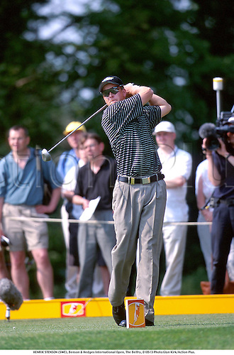 HENRIK STENSON (SWE), Benson & Hedges International Open, The Belfry, 010513 Photo:Glyn Kirk/Action Plus....2001.Golf.golfer golfers