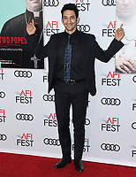 "18 November 2019 - Hollywood, California - Juan Minujín. 2019 AFI Fest's "" The Two Popes"" Los Angeles Premiere held at TCL Chinese Theatre. Photo Credit: Birdie Thompson/AdMedia"