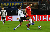 Leroy Sane (Deutschland Germany) gegen Alexey Miranchuk (Russland, Russia) - 15.11.2018: Deutschland vs. Russland, Red Bull Arena Leipzig, Freundschaftsspiel DISCLAIMER: DFB regulations prohibit any use of photographs as image sequences and/or quasi-video.
