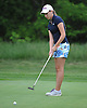 Emily Montagnino of Smithtown West putts on the 10th Hole of Bethpage State Park's Yellow Course during the practice round of the NYSPHSAA girls golf state championship on Friday, June 3, 2016.