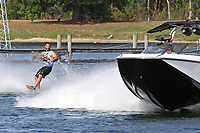 ORLANDO, FL - April 29:  Brandon Wolcott USA wins the Amateur Wake Skate Division at the WWA Nautique Wake Open 2017 at  the Orlando Watersports Complex on April 29, 2017 in Orlando, Florida. (Photo by Liz Lamont/Eclipse Sportswire/Getty Images)