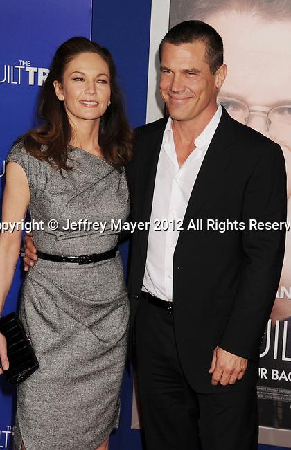 WESTWOOD, CA - DECEMBER 11: Diane Lane and Josh Brolin arrive at the 'The Guilt Trip' - Los Angeles Premiere at Regency Village Theatre on December 11, 2012 in Westwood, California.