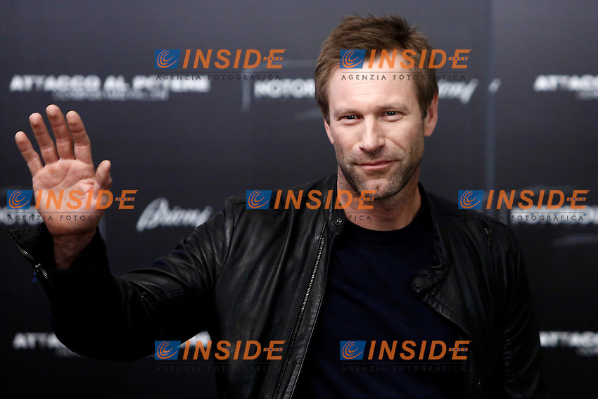 Aaron Eckhart.Roma 05/04/2013. Photocall del film 'Attacco al potere - Olympus has fallen'.Photo Matteo Minnella/Oneshot/Insidefoto