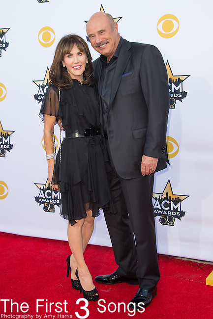 Robin McGraw and TV personality Dr. Phil McGraw attend the 50th Academy Of Country Music Awards at AT&T Stadium on April 19, 2015 in Arlington, Texas.