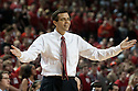 February 23, 2014: Head coach Tim Miles of the Nebraska Cornhuskers reacts to a play on the court d1h against the Purdue Boilermakers at the Pinnacle Bank Arena, Lincoln, NE. Nebraska 76 Purdue 57.