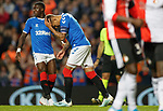 19.09.2019 Rangers v Feyenoord: James Tavernier fails to convert his penalty kick