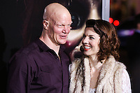 HOLLYWOOD, LOS ANGELES, CA, USA - SEPTEMBER 29: Derek Mears, Jenny Brezinski arrive at the Los Angeles Premiere Of New Line Cinema's 'Annabelle' held at the TCL Chinese Theatre on September 29, 2014 in Hollywood, Los Angeles, California, United States. (Photo by Xavier Collin/Celebrity Monitor)