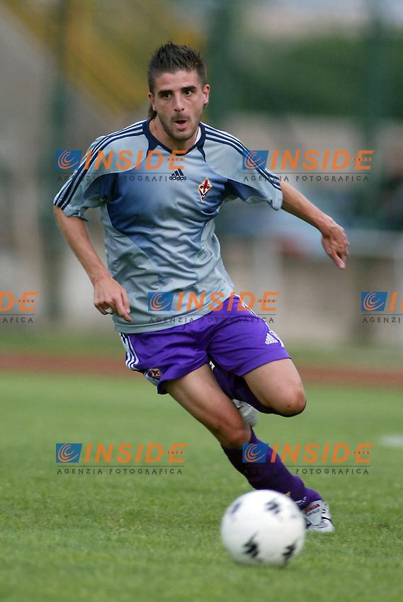 Trento 4/8/2004 Amichevole - Friendly match Fiorentina Sampdoria 3-2 <br /> <br /> Nella foto: <br /> Javier Garcia Portillo Fiorentina<br /> Photo Jay / Insidefoto