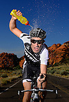 ST. GEORGE, UT - APRIL 30:  Professional Triathlete Sebastian Kienle poses for photos during a cover shoot for LAVA Magazine on April 30, 2012 in St. George, Utah.(Photo by Donald Miralle for LAVA Magazine)  *** Local Caption ***