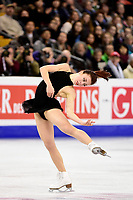 Thursday, March 31, 2016: Ashley Wagner (USA) competes in the Ladies Short Program at the International Skating Union World Championship held at TD Garden, in Boston, Massachusetts. Eric Canha/CSM
