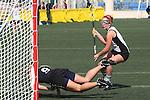 Santa Barbara, CA 02/18/12 - Amy Frantz  (Cal Poly SLO #1) in action during the 2012 Santa Barbara Shootout.  Colorado defeated Cal Poly SLO 8-7.