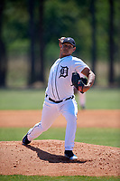 Detroit Tigers pitcher Jose Vasquez (78) during a Minor League Spring Training game against the Atlanta Braves on March 22, 2018 at the TigerTown Complex in Lakeland, Florida.  (Mike Janes/Four Seam Images)