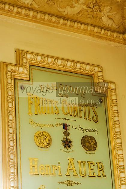 Europe/France/Provence-Alpes-Côte d'Azur/06/Alpes-Maritimes/Nice:  Confiseur : Auer détail décoration de la boutique
