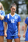 06 September 2015: Duke's Kayla McCoy. The Duke University Blue Devils hosted the University of California Bears at Koskinen Stadium in Durham, NC in a 2015 NCAA Division I Women's Soccer match. California won the game 3-1.