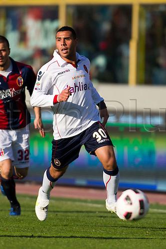 Daniele Ragatzu (Cagliari), MARCH 6, 2011 - Football : Italian  Series A  match between Bologna 2-2 Cagliari at Renato Dall'Ara Stadium in Bologna, Italy.