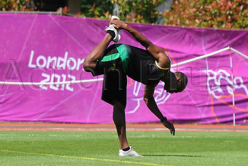 07.24.2012. Birmingham, England. Team Jamaica training session held at University of Birmingham