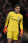 Ederson of Manchester City during the Champions League Quarter Final 1st Leg, match at Anfield Stadium, Liverpool. Picture date: 4th April 2018. Picture credit should read: Simon Bellis/Sportimage