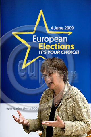 STRASBOURG - FRANCE - 06 MAY 2009 -- MEP Anne E. JENSEN during the last parliamentarian session in Strasbourg before the election.  Photo: Erik Luntang/EUP-IMAGES