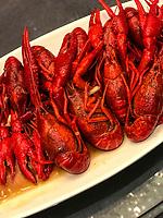 Nanjing, Jiangsu, China.  Crayfish.