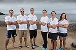 Team GB Rio Olympics marathon swimming team.<br /> Bernie Dietzig, Kevin Renshaw, Jack Burnell, Keri Anne Payne, Laurel Bailey & Louise Imrie.<br /> Langland Bay<br /> 26.07.16<br /> ©Steve Pope Sportingwales