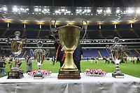 Pokale der Siegerehrung beim German Bowl