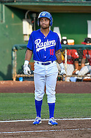 Saige Jenco (18) of the Ogden Raptors at bat against the Idaho Falls Chukars in Pioneer League action at Lindquist Field on June 28, 2016 in Ogden, Utah. The Raptors defeated the Chukars 12-11. (Stephen Smith/Four Seam Images)