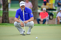 Ryan Palmer (USA) lines up his putt on 2 during round 3 of the Honda Classic, PGA National, Palm Beach Gardens, West Palm Beach, Florida, USA. 2/25/2017.<br /> Picture: Golffile | Ken Murray<br /> <br /> <br /> All photo usage must carry mandatory copyright credit (&copy; Golffile | Ken Murray)