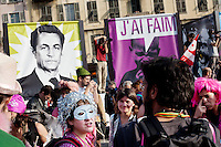 G20 summit protest march, Nice, France, 1 November 2011.