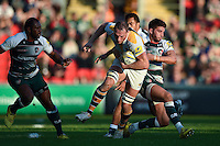 Kearnan Myall of Wasps takes on the Leicester Tigers defence. Aviva Premiership match, between Leicester Tigers and Wasps on November 1, 2015 at Welford Road in Leicester, England. Photo by: Patrick Khachfe / Onside Images
