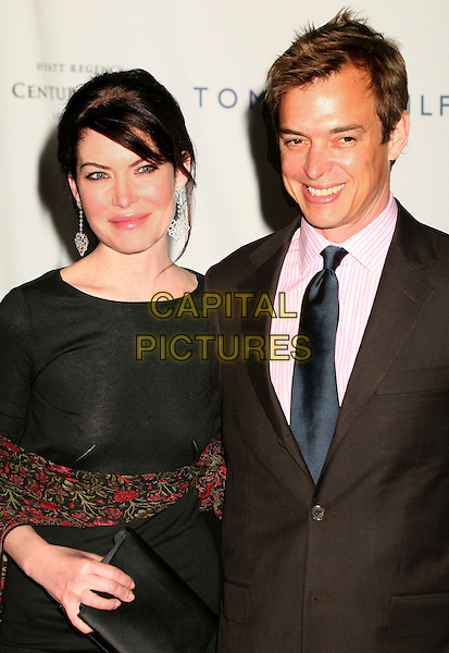 "LARA FLYNN BOYLE & husband DONALD RAY THOMAS.14th Annual Race to Erase MS Themed ""Dance to Erase MS"" at the Century Plaza Hotel, Century City, California, USA, 13 April 2007..half length black dress.CAP/ADM/BP.©Byron Purvis/AdMedia/Capital Pictures."
