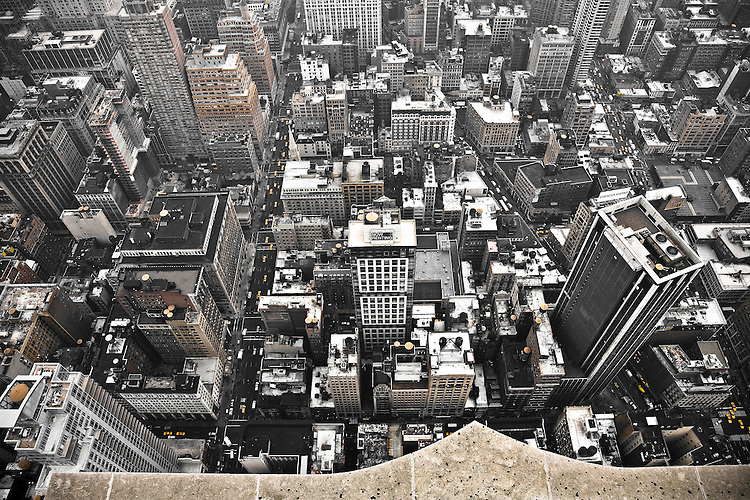 Empire State Building - Seen from the Top, looking down to the small world...
