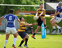 St Pat's Town v Porirua College Boys QF. 2017 Wellington Secondary Schools Condor Rugby Sevens tournament at Naenae College in Naenae, Wellington, New Zealand on Monday, 23 October 2017. Photo: Dave Lintott / lintottphoto.co.nz