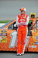 May 1, 2009; Richmond, VA, USA; NASCAR Sprint Cup Series driver Kyle Busch during qualifying for the Russ Friedman 400 at the Richmond International Raceway. Mandatory Credit: Mark J. Rebilas-