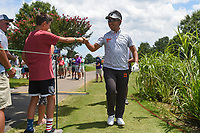 Kodai Ichihara (JPN) fist bumps a young fan on his way to 13 during round 2 of the WGC FedEx St. Jude Invitational, TPC Southwind, Memphis, Tennessee, USA. 7/26/2019.<br /> Picture Ken Murray / Golffile.ie<br /> <br /> All photo usage must carry mandatory copyright credit (© Golffile | Ken Murray)